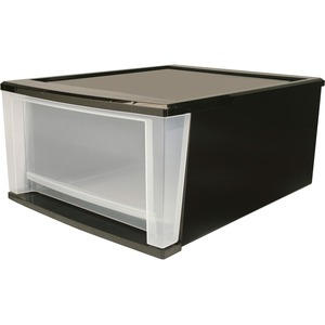 Iris Stackable Drawer - 1 Drawer(s) - Polypropylene - Black Body