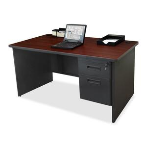Lorell 67000 Series Single Pedestal Desk LLR67782