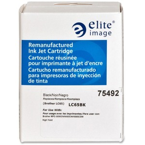 Elite Image Remanufactured Brother LC65HYBK Inkjet Cartridge ELI75492