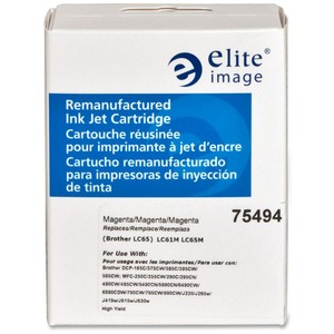Elite Image Remanufactured Brother LC65HYM Inkjet Cartridge ELI75494