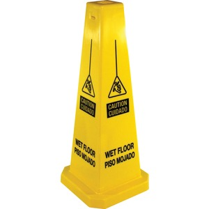 Four Sided Safety Cone Caution Sign