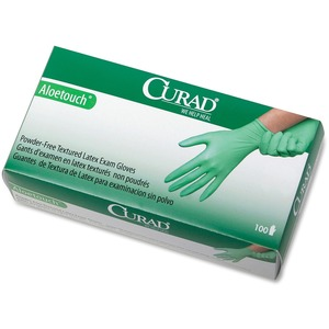 Curad Aloetouch Latex Exam Gloves MIICUR8154R