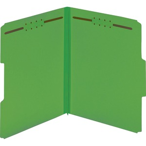 Globe-Weis Color Pressboard Folders with Fastener GLW15938GW