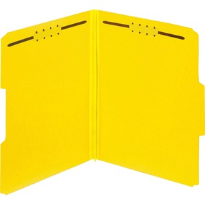 Globe-Weis Color Pressboard Folders with Fastener GLW15939GW