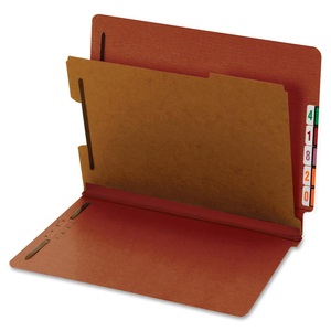 Globe-Weis Standard Color End Tab Classification Folder GLW23855