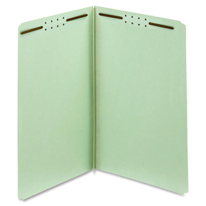 Globe-Weis Pressboard Folder with Fasteners, Light Green GLW29910