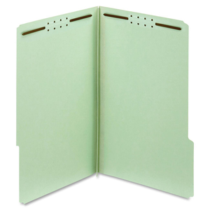 Globe-Weis 100% Recycled Pressboard Folders with Fastener GLW29931R