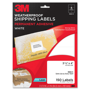 3M Address Label MMM3800V