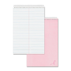 Rediform Pink Ribbon Steno Notebook RED36647