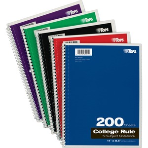 Tops 5-Subject Notebook TOP65581