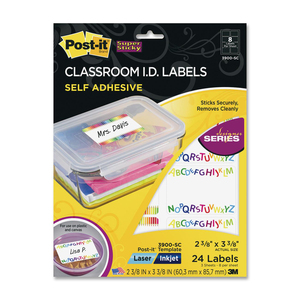 Post-it Designer Classroom I.D Label MMM3900SC