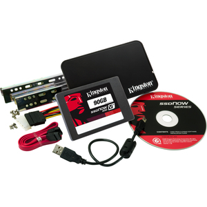 Kingston SVP200S3B/90G 90GB SSDNow V+200 SATA 3 2.5 Upgrade Bundle Kit