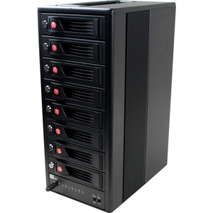 CRU RTX Secure 810-NJ DAS Array - RAID Supported - 8 x Total Bays - Infiniband Tower