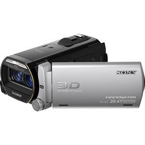 "Sony Handycam 3D Digital Camcorder - 3.5"" - Touchscreen LCD - CMOS - Full HD - Silver, Black SONHDRTD20V"
