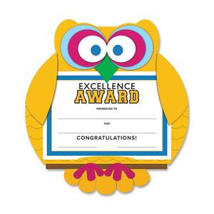 Southworth Motivations Owl Excellence Award Certificate SOUMAK1