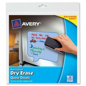 Avery Peel and Stick Dry Erase Quote Decal AVE24308