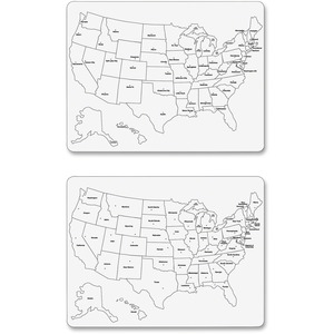 ChenilleKraft 2-Sided Large USA Map Whiteboard CKC9873
