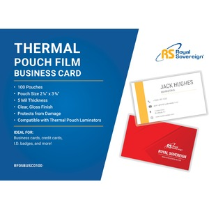 ROYAL SOVEREIGN BUSINESS CARD LAMINATING POUCH