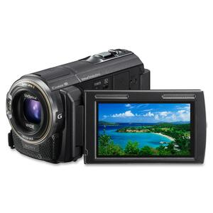 "Sony Handycam Digital Camcorder - 3"" - Touchscreen LCD - CMOS - Full HD - Black SONHDRPJ580V"