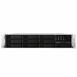 Synology Rack Station RS3412RPXS 10-BAY SATA NAS RAID Server Dsm 4XGBLAN USB Black 2U