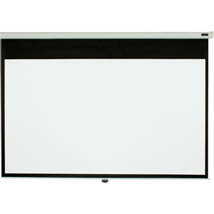 """EluneVision 96 x 96"""" (136"""" Diagonal) Manual Pull-Down Projector Screen"""