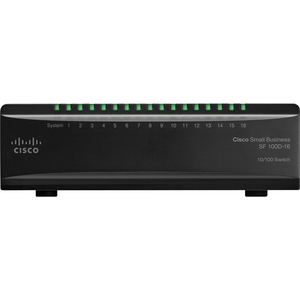 Cisco SF100D-16 16PORT 10/100 Unmanaged Desktop Switch