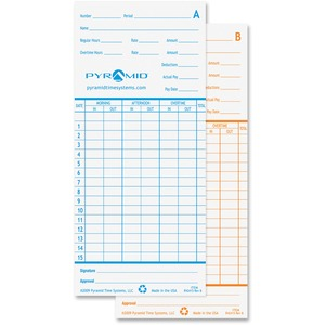 Pyramid Time Card For Models 2600 & 2650 PTI42415