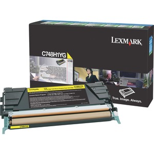 Lexmark C748 Yellow High Yield Return Program Toner Cartridge LEXC748H1YG