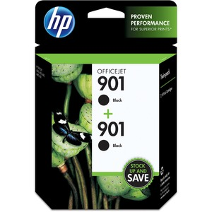 HP 901 2-pack Black Original Ink Cartridges HEWCZ075FN
