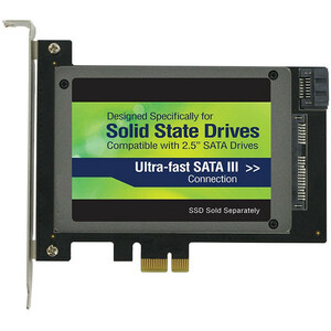Upg Kit SSD PCIe 2.0X1 SATA III 2.5IN Slot Plus Aux Port to 400MBS