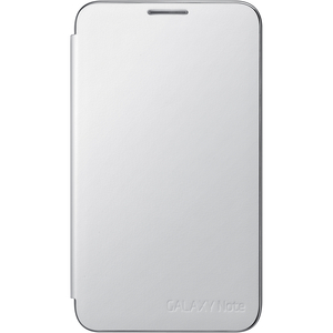 Samsung EFC-1E1CWEGSTA Carrying Case (Flip) for Smartphone - White - Felt, Suede