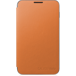 Samsung EFC-1E1COEGSTA Carrying Case (Flip) for Smartphone - Orange - Felt, Suede