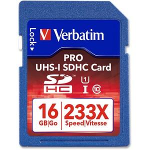 VERBATIM - AMERICAS LLC 16GB PRO 233X SDHC UHS-1 MEMORY CARD CLASS10       NR
