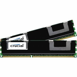 Crucial 16GB DDR3 SDRAM Memory Modules - 16 GB (2 x 8 GB) - DDR3 SDRAM - 1066 MHz DDR3-1066/PC3-8500 - ECC - Registered - 240-pin - DIMM