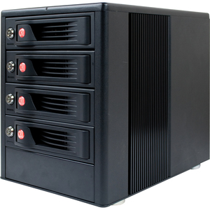 CRU RTX RTX410-3SJ DAS Array - 4 x HDD Installed - 8 TB Installed HDD Capacity - RAID Supported - 4 x Total Bays - USB 2.0, eSATA Tower