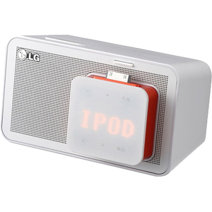 LG ND1520 5W Docking Speaker for iPod and iPhone White USB FM Radio
