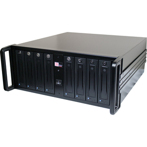 CRU RAX RAX845-XJ DAS Array - RAID Supported - 8 x Total Bays - Mini-SAS - 4U Rack-mountable