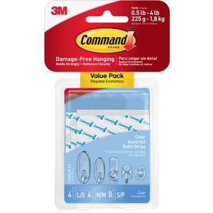Command Clear Assorted Refill Strips MMM17200CLR