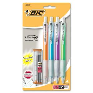 BIC Velocity Comfort Grip Mechanical Pencil BICMVP41BLK