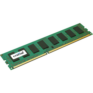Crucial 2GB, 240-Pin DIMM, DDR3 PC3-10600 Memory Module - 2 GB (1 x 2 GB) - DDR3 SDRAM - 1333 MHz DDR3-1333/PC3-10600 - ECC - Registered - 240-pin - DIMM