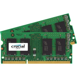 Crucial 16GB Kit (8GBx2), 204-Pin SODIMM, DDR3 PC3-12800 Memory Module