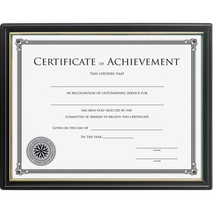 Ready-to-use Frame with Certificate of Achievement