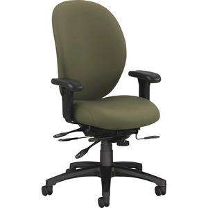 HON 7600 Executive High-Back Chair w/Seat Glide HON7608CU82T