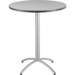 "65667 - CafeWorks Bistro Table, 36"" Round, Gray"