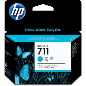 HP 711 Tri-pack Ink Cartridge | Cyan