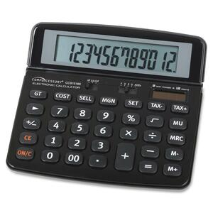 Compucessory Dual Power 12-Digit Handheld Calculator CCS15160