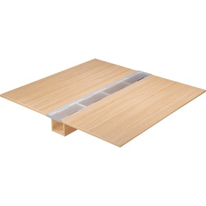 Lorell Concordia Series Latte Laminate Desk Ensemble LLR81915