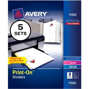 Avery Customizable Print-On Dividers AVE11552