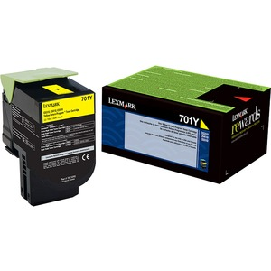 Lexmark 701Y Yellow Return Program Toner Cartridge LEX70C10Y0