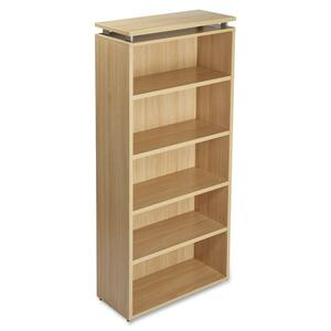 Lorell Concordia Series Laminate Latte 5-Shelf Bookcase LLR68724